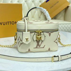 Replica Louis Vuitton M45599 LV Vanity PM handbag in Bicolor Monogram Empreinte Leather