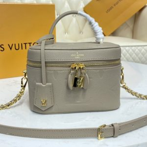 Replica Louis Vuitton M45608 LV Vanity PM handbag in Embossed grained cowhide leather