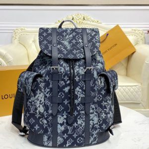 Replica Louis Vuitton M57280 LV Christopher Backpack in Monogram Tapestry coated canvas