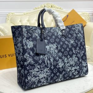 Replica Louis Vuitton M57284 LV Grand Sac tote bag in Monogram Tapestry coated canvas