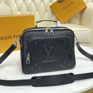 Replica Louis Vuitton M57287 LV Flight Case in Taurillon Shadow leather
