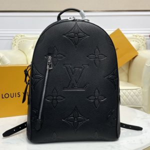 Replica Louis Vuitton M57288 LV Armand Backpack In Taurillon Shadow leather