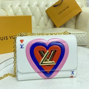 Replica Louis Vuitton M57460 LV Game On Twist PM chain handbag in White Transformed epi leather