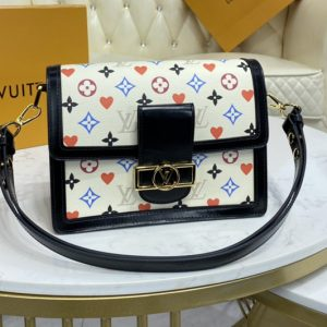 Replica Louis Vuitton M57463 LV Game On Dauphine MM bag in Transformed Game On Monogram Canvas