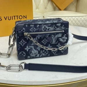 Replica Louis Vuitton M80033 LV Mini Soft Trunk Bag in Monogram Tapestry coated canvas