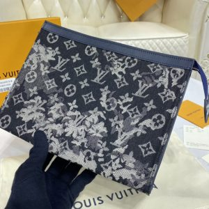 Replica Louis Vuitton M80034 LV Pochette Voyage Bag in Monogram Tapestry coated canvas