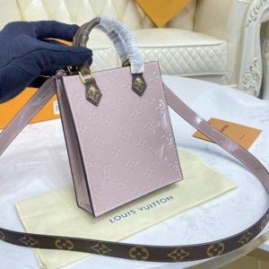 Replica Louis Vuitton M90564 LV Petit Sac Plat Bag in Monogram Vernis patent debossed leather