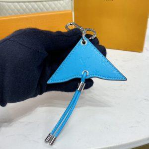 Replica Louis Vuitton MP2624 LV Mini Icon Kite bag charm and key holder With Blue
