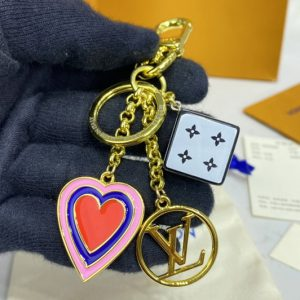 Replica Louis Vuitton MP2913 LV Game On Dice and Heart bag charm and key holder