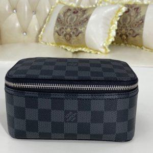 Replica Louis Vuitton N40181 LV Cube De Rangement pm in Damier Graphite canvas