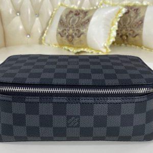 Replica Louis Vuitton N40182 LV Cube De Rangement MM in Damier Graphite canvas