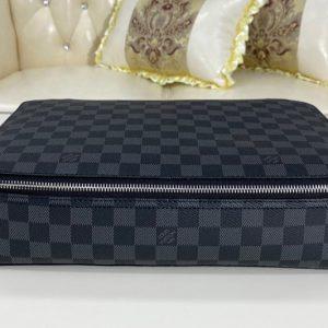 Replica Louis Vuitton N40185 LV Cube De Rangement GM in Damier Graphite canvas