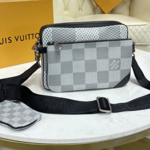Replica Louis Vuitton N50017 LV Trio Messenger bag in White Damier Canvas