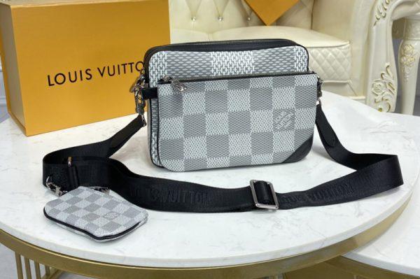 Replica Louis Vuitton N50017 LV Trio Messenger bag in White Damier Canvas