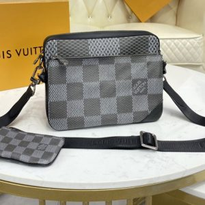 Replica Louis Vuitton N50027 LV Trio Messenger bag in Gray Damier Canvas