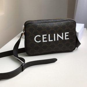Replica Celine 194502 Medium messenger bag in triomphe canvas with celine print
