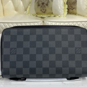 Replica Louis Vuitton N41503 LV Zippy XL Wallet In Damier Graphite Canvas