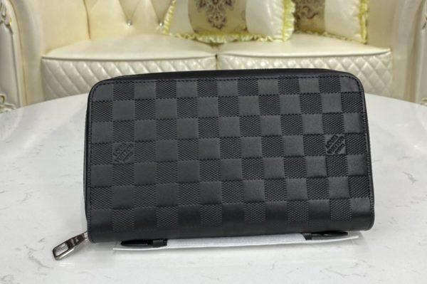 Replica Louis Vuitton N61254 LV Zippy XL Wallet In Damier Infini Leather