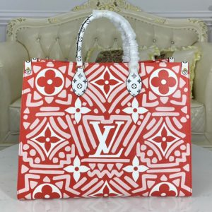 Replica Louis Vuitton M45358 LV Crafty Onthego GM tote bag in Red Monogram Giant coated canvas