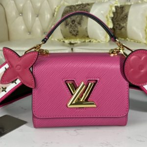 Replica Louis Vuitton M57063 LV Twist Mini handbag Agathe Rose Pink Epi leather