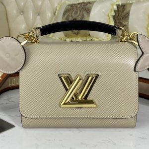 Replica Louis Vuitton M57063 LV Twist Mini handbag Gray Epi leather