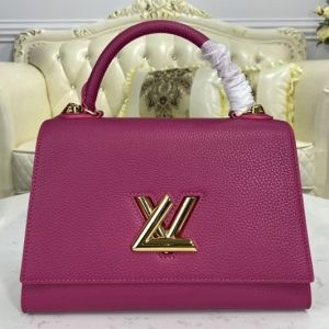 Replica Louis Vuitton M57092 LV Twist One Handle handbag in Orchidée Pink Taurillon leather