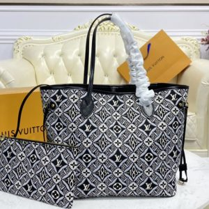 Replica Louis Vuitton M57230 LV Since 1854 Neverfull MM tote bag in Gray Jacquard Since 1854 textile