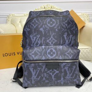 Replica Louis Vuitton M57274 LV Discovery Backpack PM in Monogram Pastel Noir coated canvas