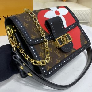 Replica Louis Vuitton M57448 LV Game On Dauphine MM handbag in Game On Monogram Canvas