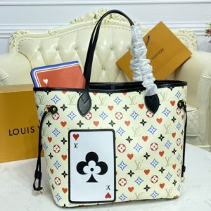 Replica Louis Vuitton M57462 LV Game On Neverfull MM tote Bag in White Transformed Game On Monogram canvas