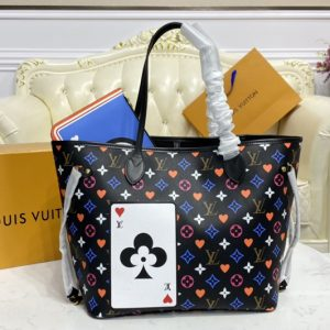 Replica Louis Vuitton M57483 LV Game On Neverfull MM tote Bag in Black Transformed Game On Monogram canvas