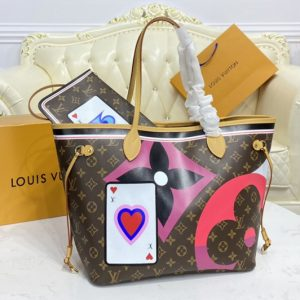 Replica Louis Vuitton M57483 LV Game On Neverfull MM tote Bag in Game On Monogram canvas