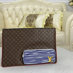 Replica Louis Vuitton M69690 LV Multipocket Pochette A4 in Monogram coated canvas and cowhide leather