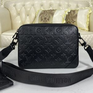Replica Louis Vuitton M69827 LV Duo Messenger bag in Monogram Shadow leather