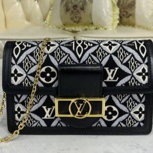 Replica Louis Vuitton M69992 LV Since 1854 Dauphine Chain Wallet bag in Jacquard Since 1854 textile