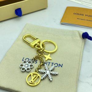 Replica Louis Vuitton M80240 LV Snowflakes bag charm and key holder