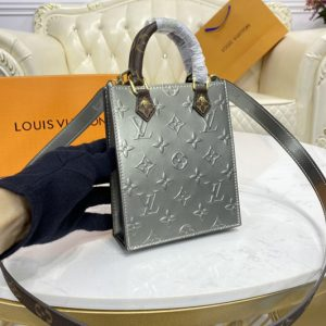 Replica Louis Vuitton M90564 LV Petit Sac Plat bag in Embossed Monogram Vernis patent cowhide