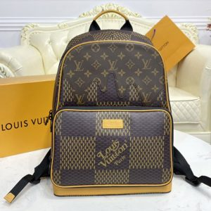 Replica Louis Vuitton N40380 LV Campus Backpack in Giant Damier Ebene and Monogram coated canvas