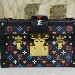 Replica Louis Vuitton M57454 LV Game on petite malle Bag in Game On Monogram canvas