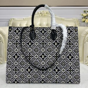 Replica Louis Vuitton M57207 LV Since 1854 Onthego GM tote bag in Gray Jacquard Since 1854 textile