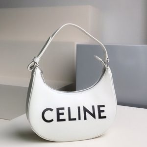 Replica Celine 193953 Ava Bag in White smooth calfskin with celine print