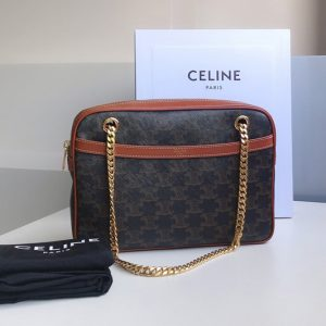 Replica Celine 195452 medium patapans in Tan triomphe canvas