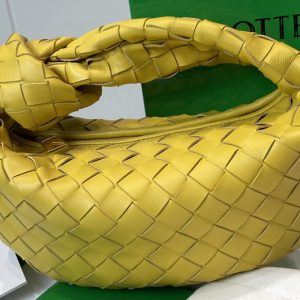 Replica Bottega Veneta 651876 Mini Jodie boho bag in Yellow Intrecciato Nappa leather