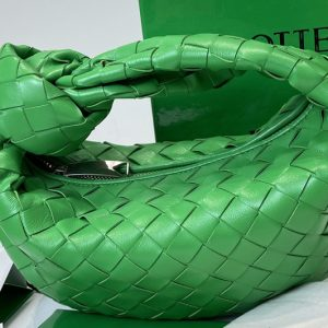 Replica Bottega Veneta 651876 Mini Jodie boho bag in Green Intrecciato Nappa leather