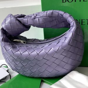 Replica Bottega Veneta 651876 Mini Jodie boho bag in Purple Intrecciato Nappa leather