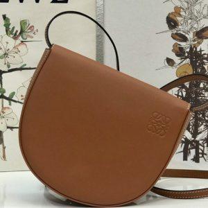 Replica Loewe Heel Duo bag in Tan soft natural calfskin
