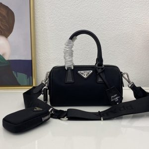 Replica Prada 1BB846 Re-Edition 2005 Nylon Bag In Black Nylon