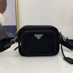 Replica Prada 1BH153 Re-Edition 2005 nylon bag in Black nylon