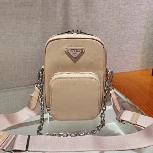 Replica Prada 1BH183 Saffiano leather mini bag in Sand Saffiano leather