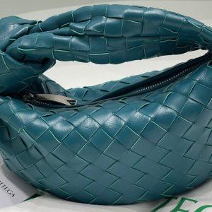 Replica Bottega Veneta 651876 Mini Jodie boho bag in Mallard Intrecciato Nappa leather